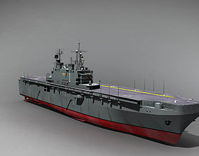 3D USS Tarawa LHA 1 amphibious assault ship
