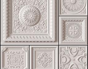 3D model 10 Decorative Ceiling Tile Collection