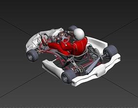 realtime GO KART 3D MODEL DRIVER HELMET