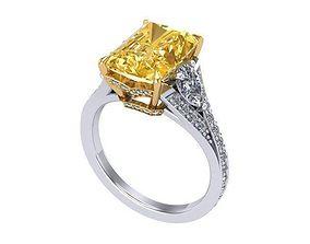 3D printable model Yellow head ring diamonds