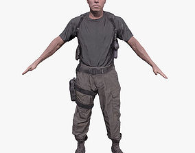 3D model game-ready Soldier