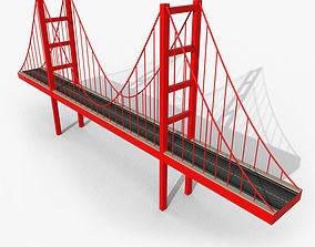 Cartoony Bridge 3D model