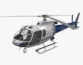 3D model AS-350 Ontario Police