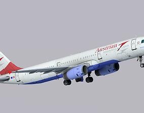 Airbus A321-200 Austrian Airlines 3D asset