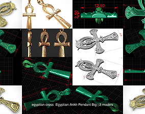 3D model egyptian cross Egyptian Ankh Pendant Big