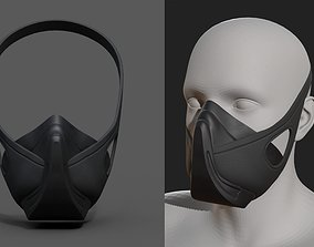 Helmet gas mask scifi military combat soldier 3D model 1