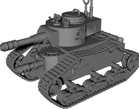 3D print model SciFi battle tank