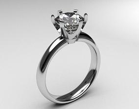 Tiffany engagement ring diamond fashion anniversary 3d
