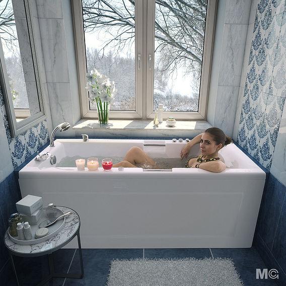 Bathroom visualisation for catalog