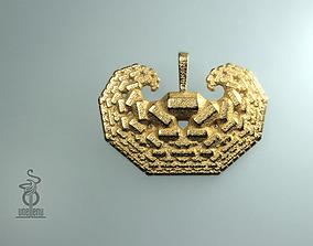Curling Crystals Pendant 3D print model