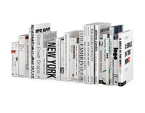 Black and white design books coolection 3D
