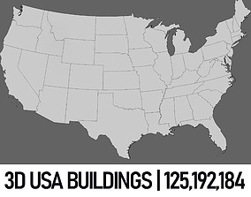 3D USA Buildings - Full Set state