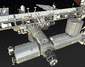 3D model International Space Station ISS 2019