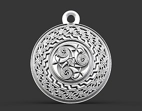 3D print model Celtic pendant 2