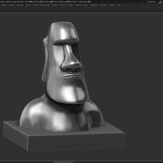 Moai 3d Print Model