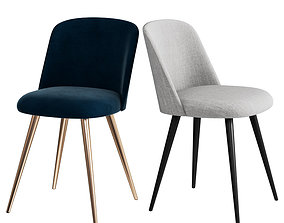 WEST ELM Lila Upholstered Dining Chair TRIAL FOR 3D model