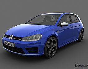 Volkswagen Golf R 5 doors 2014 3D model