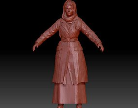 Realistic female character statue 3D printable model