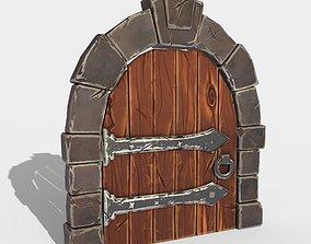 3D asset stylized door