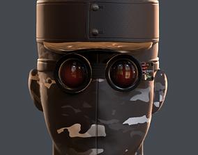 game-ready helmet 3d model scifi Low-poly