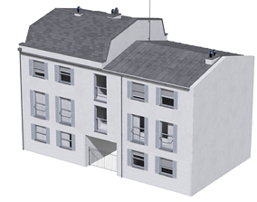 3D model Building at old church st 48 London