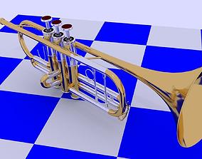 3D silvery Trumpet
