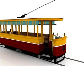 industry Tram 3D Model