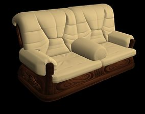 couch 3D animated