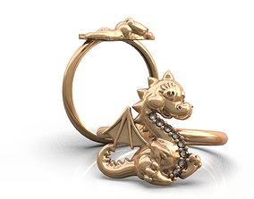 Dinosaur ring 3D printable model