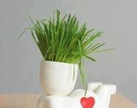 lying boy fat potted plants and stl for 3D printing 3D