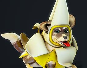 Cartoon Corgi Banana Costume Expansion Pack 3D model