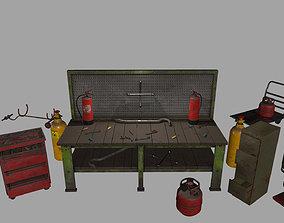 Garage set 3D asset