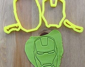Iron Man cookie cutter for professional 3D print model