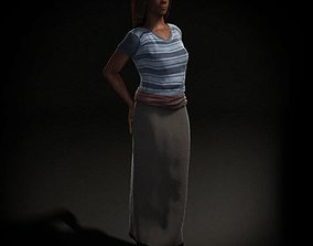 3D model Posing Female Character