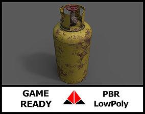 Gas tank 3D model low-poly PBR