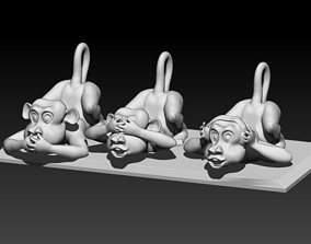 3D print model Three monkeys