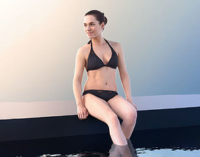 brunette Juliette 10830 - Bikini Girl 3D