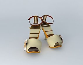 FENDI Sandal No. 5 in 5 colours 3D model