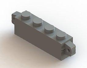 3D model Lego 4 x 1 Inverse Click Brick