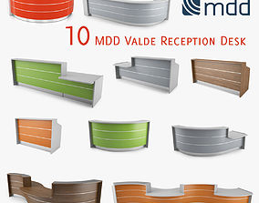 3D model MDD Valde 10 Reception Desk