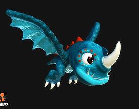 Cartoon Dragon 3D model