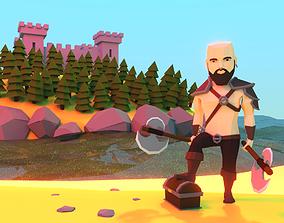Berserker - Low Poly Game Character 3D model