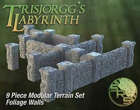 3D printable model Foliage Stone Walls Modular Terrain Set