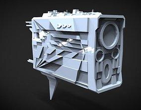 3D asset Spaceship Dreadnought 666