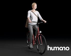 Humano Biking Woman 0704 3D