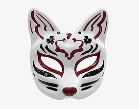 Half-face mask kitsune 3D model