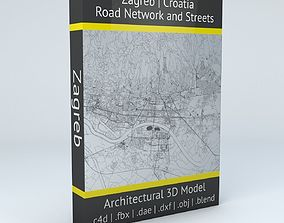 Zagreb Road Network and Streets 3D