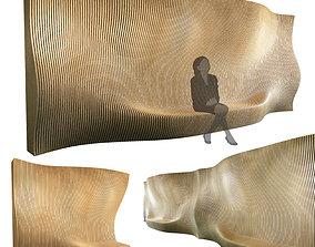 3D model Parametric wall 001