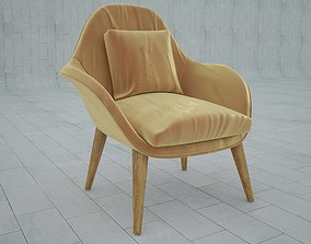 Arm chair fredericia swoon 3D