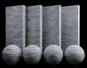 3D asset Grey Brick Tiles Texture PBR 200 x 200 cm
